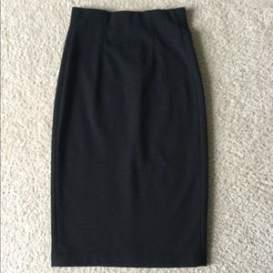 VINCE high waisted ponte knit pencil skirt